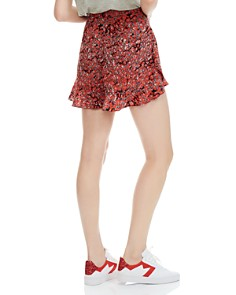 Maje - Imona Flounced Leopard-Print Shorts