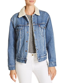 Levi s - Sherpa-Trimmed Denim Trucker Jacket ... e57236620