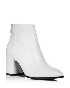 AQUA Women'S Dante Pointed Toe Leather Booties - 100% Exclusive in White