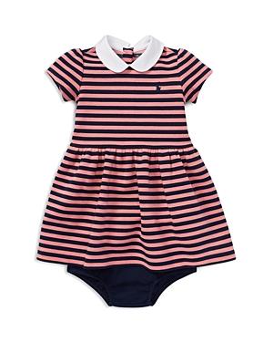 Ralph Lauren Girls' Striped Ponte Dress & Bloomers Set - Baby