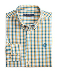 Brooks Brothers - Boys' Non-Iron Multi Gingham Sport Shirt - Little Kid, Big Kid