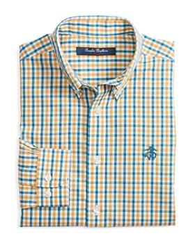 Brooks Brothers - Boys' Non-Iron Multi Gingham Sport Shirt - Little Kid, Big Kid