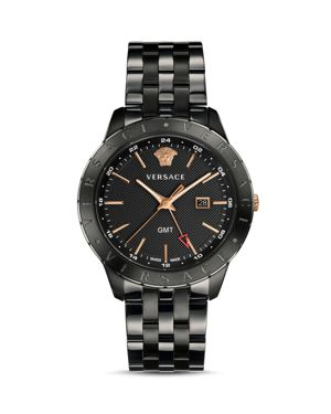 Versace Collection Business Slim Black Watch, 43mm