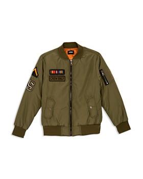 Hudson - Boys' Millitary Bomber Jacket, Little Kid - 100% Exclusive
