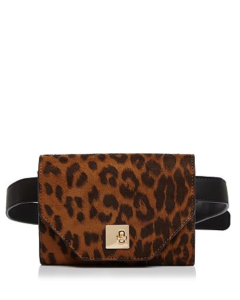 AQUA - Medium Leopard-Print Belt Bag - 100% Exclusive