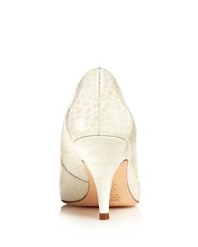 Tory Burch - Women's Georgina Pointed Toe Leather High-Heel Booties