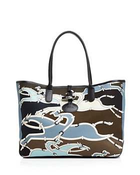 Longchamp - Roseau Galop Large Canvas Shoulder Tote