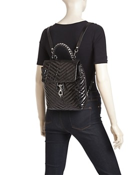 Rebecca Minkoff - Edie Flap Medium Leather Backpack