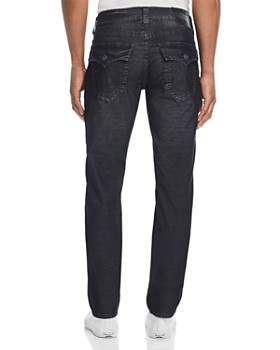 True Religion - Geno Straight Slim Corduroy Pants in Black