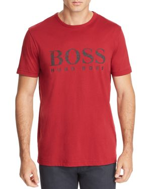 BOSS GEOMETRIC LOGO GRAPHIC TEE