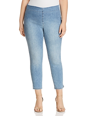 Nydj Plus Alina Cropped Denim Leggings in Clean Dream