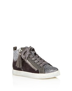 Dolce Vita - Girls' Zaila Glitter High Top Sneakers - Little Kid, Big Kid