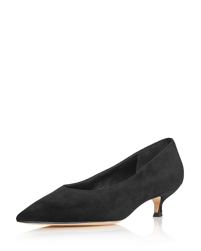 a77530b4f5c kate spade new york Women s Dale Pointed Toe Suede Kitten Heel Pumps ...