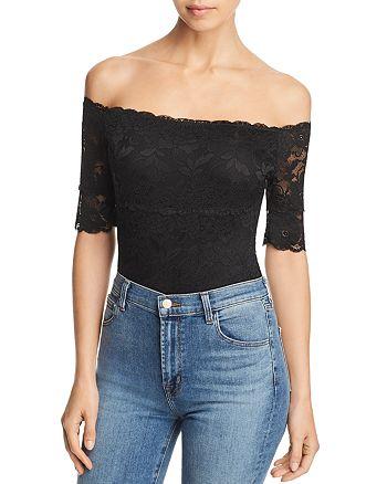 341b6c267a1b GUESS - Dara Off-the-Shoulder Lace Bodysuit