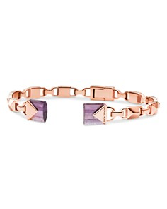 Michael Kors - Mercer Link Semi-Precious 14K Rose Gold-Plated Sterling Silver Center Back Hinged Cuff
