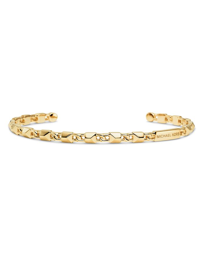Michael Kors - Mercer Link Sterling Silver Cuff in 14K Gold-Plated Sterling Silver, 14K Rose Gold-Plated Sterling Silver or Solid Sterling Silver
