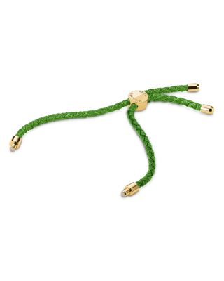 Custom Kors 14 K Gold Plated Sterling Silver & Silk Interchangeable Bracelet Cord by Michael Kors