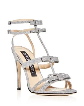 Sergio Rossi - Women's Glitter Bow High-Heel Sandals
