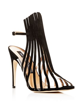 Sergio Rossi - Women's Suede Multi-Strap High-Heel Sandals
