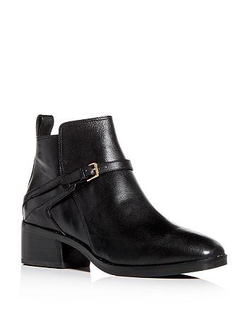 Cole Haan - Women's Etta Leather Block-Heel Booties