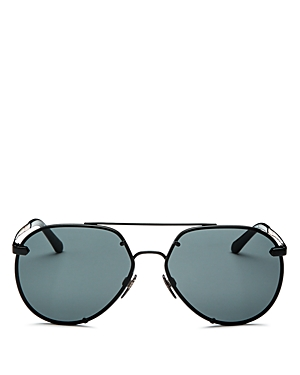 Burberry Men's Brow Bar Aviator Sunglasses, 61mm