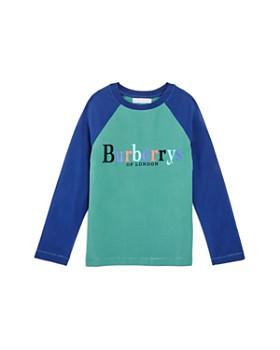 Burberry - Unisex Logo Raglan Tee - Little Kid, Big Kid