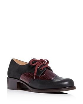 Chie Mihara - Women's Xeli Two-Tone Leather Block-Heel Oxfords