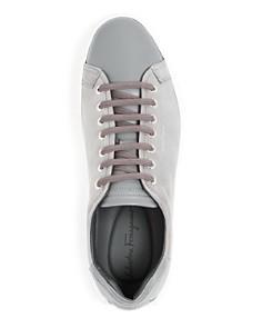 Salvatore Ferragamo - Men's Nubuck Leather Lace Up Sneakers