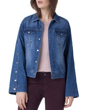 LIVERPOOL BELL-SLEEVE DENIM JACKET