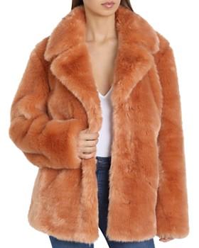 Avec Les Filles - Faux Fur Swing Coat