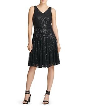 Donna Karan - Sequin Embellished Dress