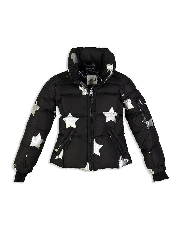 SAM. - Girls' Freestyle Star-Print Down Jacket - Little Kid