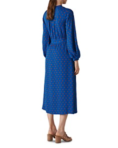 Whistles - Maria Dot-Printed Silk Wrap Dress