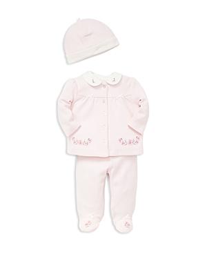 Little Me Girls Hat Cardigan  Footie Pants Take Me Home Set  Baby