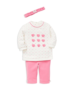 Little Me Girls HeartPrint Sweatshirt Leggings  Headband Set  Baby