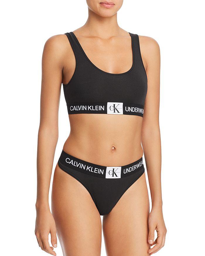 f7b52d1d24a4 Calvin Klein Monogram Unlined Bralette & Thong | Bloomingdale's
