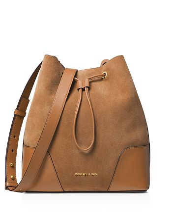 1595d9ba0699 MICHAEL Michael Kors - Cary Medium Suede Bucket Bag