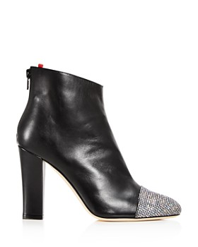 SJP by Sarah Jessica Parker - Women's Rumi Leather Cap Toe High-Heel Booties