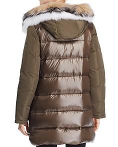 Derek Lam 10 Crosby - Fox Fur Trim Mixed Media Down Parka