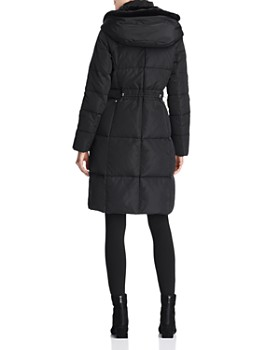 Cole Haan - Zip-Front Puffer Coat with Faux Fur-Lined Hood