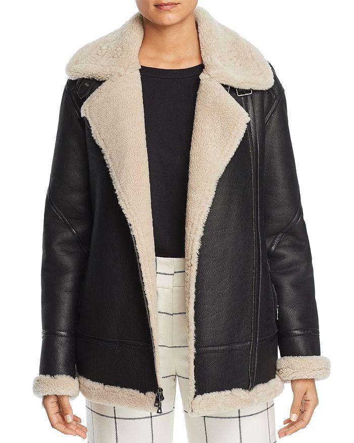 Maximilian Furs - Lamb Shearling Aviator Jacket
