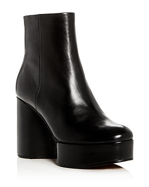 Robert Clergerie Women's Belen Leather Platform Wedge Booties