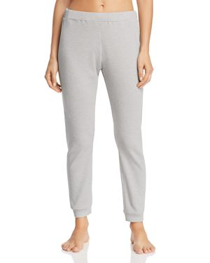 NATURAL SKIN Whitely Waffle-Knit Lounge Pants in Heather Gray