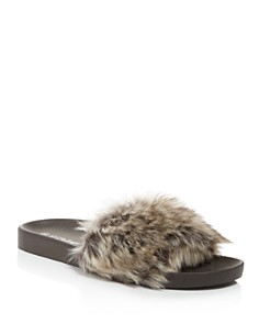 PJ Salvage - Faux Fur Molded Slide Slippers