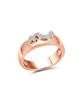 Love and Pride - 14K Rose Gold Diamond Raised Female Insignia Ring