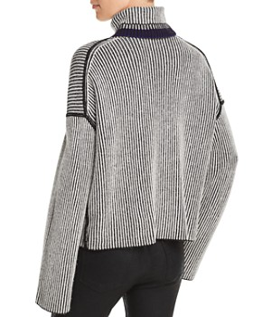 Theory - Oversize Striped Cashmere Sweater