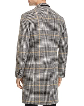 Sandro - Houndstooth-Plaid Overcoat - 100% Exclusive