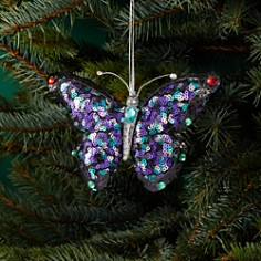 Bloomingdale's Sequin Butterfly Ornament - 100% Exclusive _0