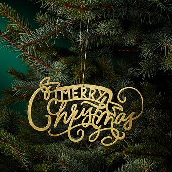 Bloomingdale's - Merry Christmas Ornament - 100% Exclusive - Bloomingdale's Merry Christmas Ornament - 100% Exclusive