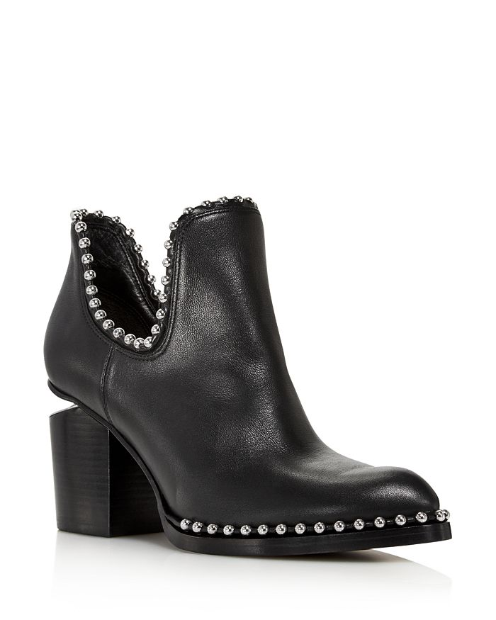 d68725996be95 Alexander Wang - Women s Gabi Pointed Toe Studded Leather High-Heel Ankle  Boots